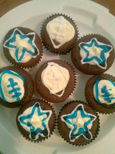 Dallas Cowboys Birthday Cupcakes