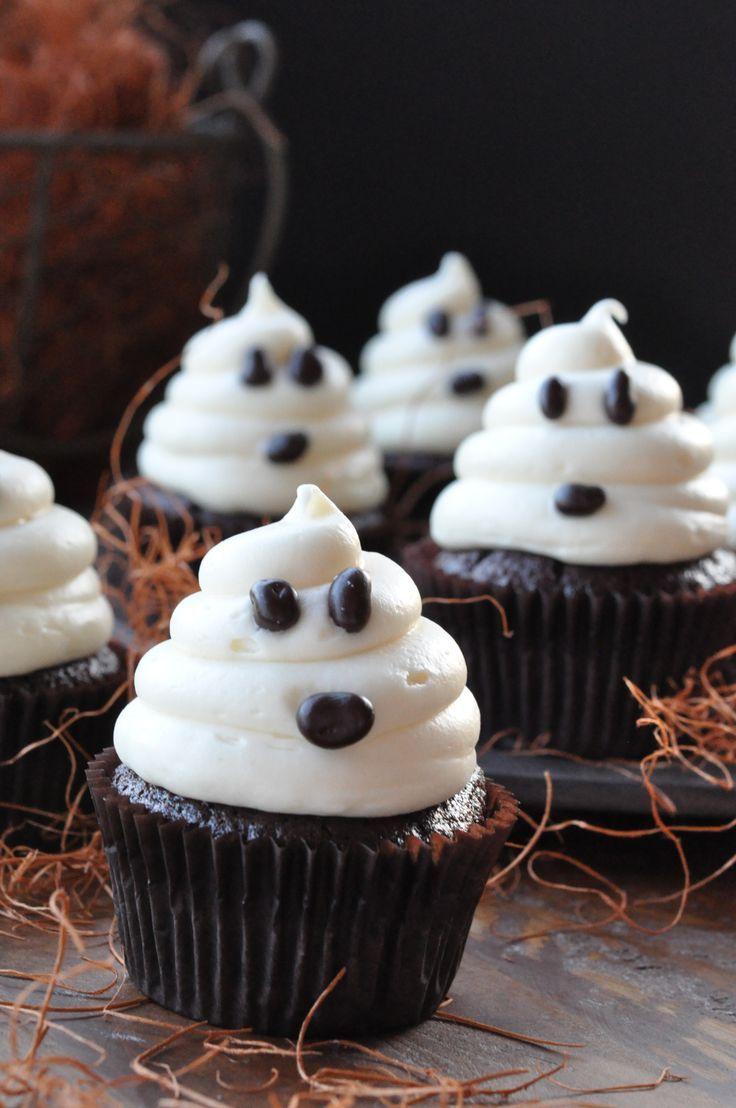 7 Photos of Halloween Ghost Cupcakes