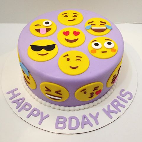 Free Emoji Birthday Cake With