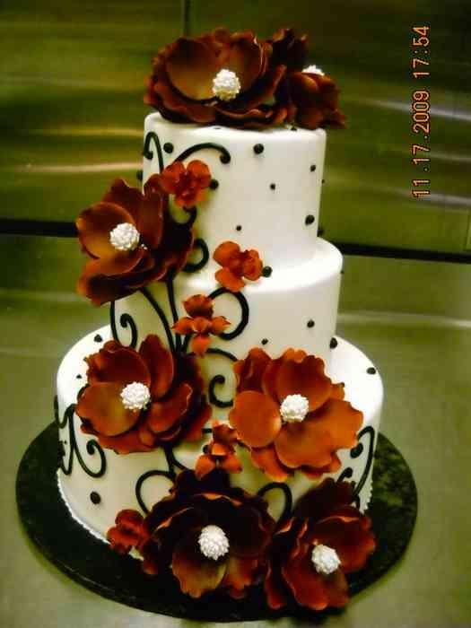 9 Photos of Fall Wedding Cakes Fondant