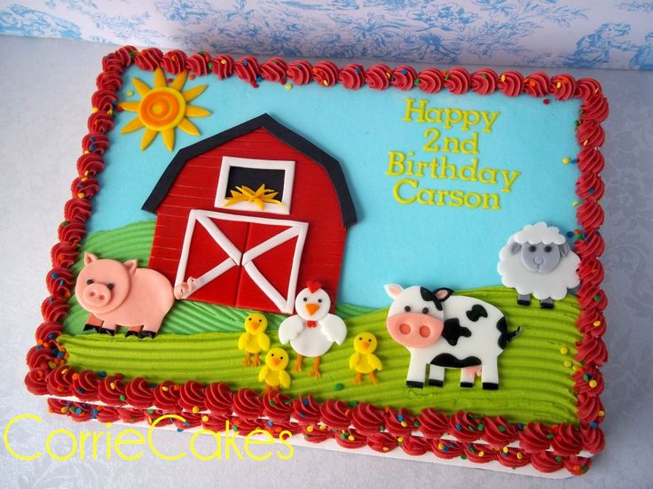 Farm Birthday Sheet Cake