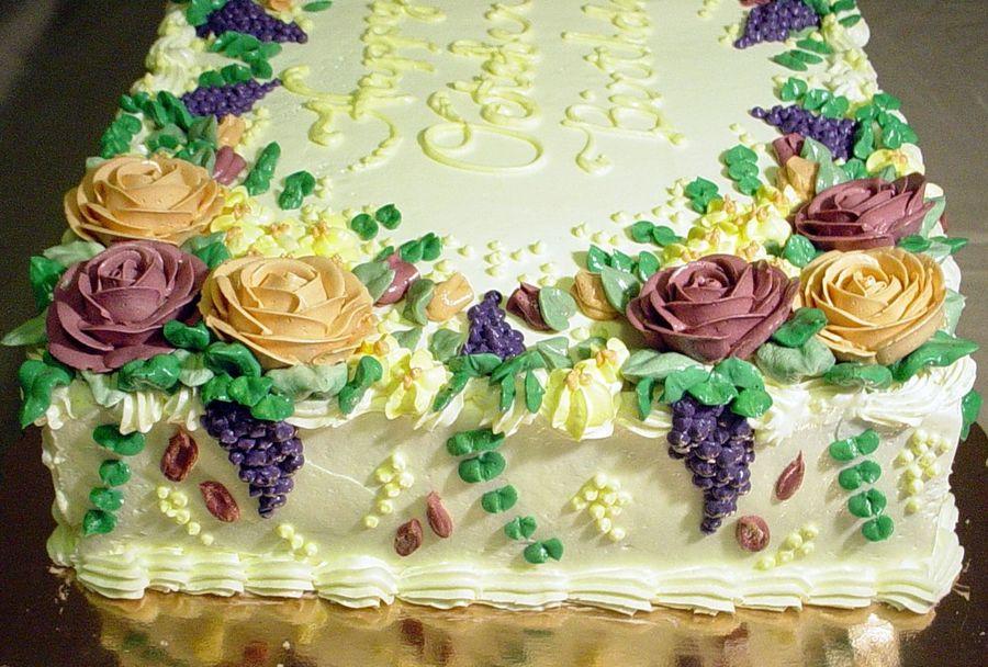 Floral Sheet Cake