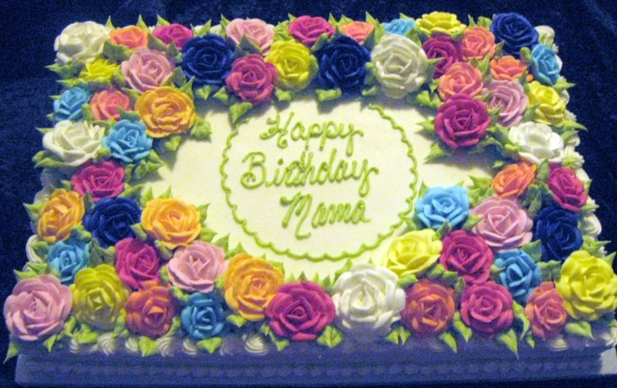 Birthday Cake Images And Flowers ~ Floral birthday sheet cakes photo flower sheet cake birthday