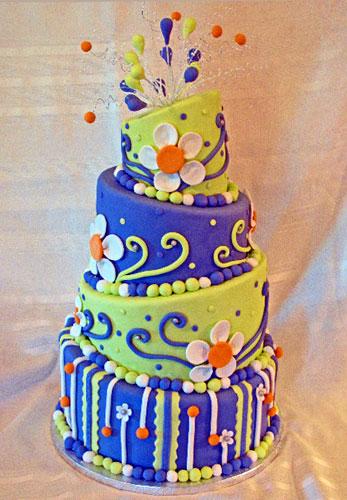Fabulous 7 Cute And Funky Birthday Cakes Photo Cool Birthday Cake Idea Personalised Birthday Cards Arneslily Jamesorg