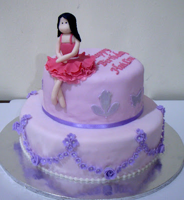 Girls Purple Birthday Cake