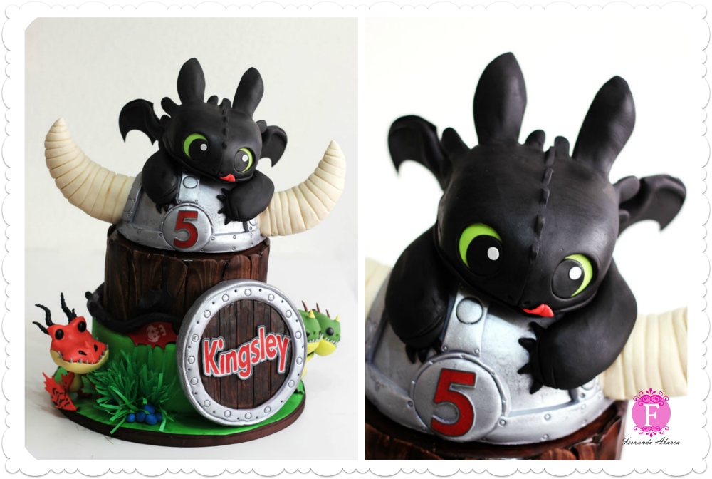 Admirable 10 Amazing Birthday Cakes Toothless Photo Toothless Dragon Cake Personalised Birthday Cards Veneteletsinfo