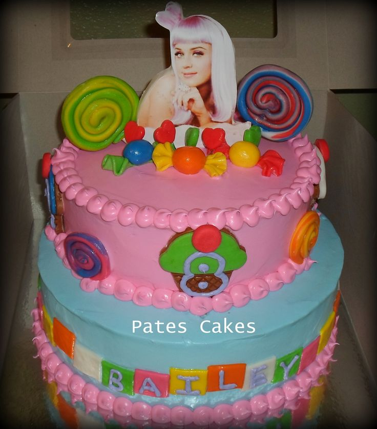 Marvelous 12 Katy Party Cakes Photo Katy Perry Birthday Cake Katy Perry Birthday Cards Printable Inklcafe Filternl