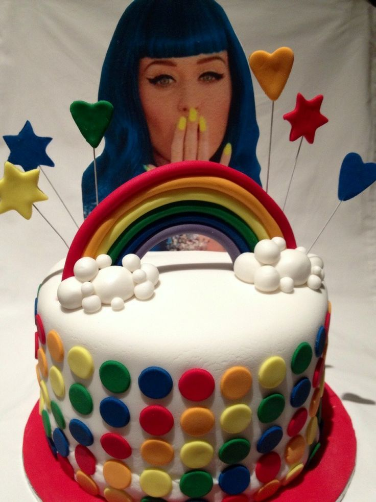 Incredible 12 Katy Party Cakes Photo Katy Perry Birthday Cake Katy Perry Personalised Birthday Cards Veneteletsinfo