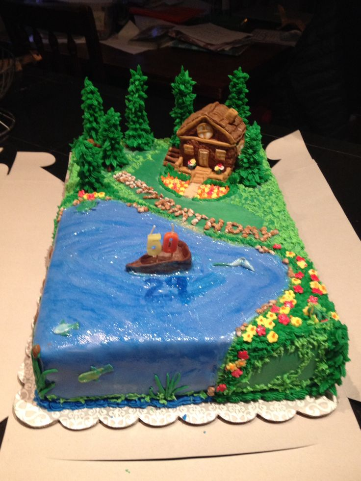 11 Photos of Lake Themed Cakes