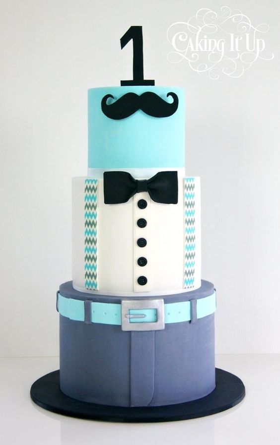 11 Guys Birthday Cakes Modern Photo Little Man Birthday Cake Ideas