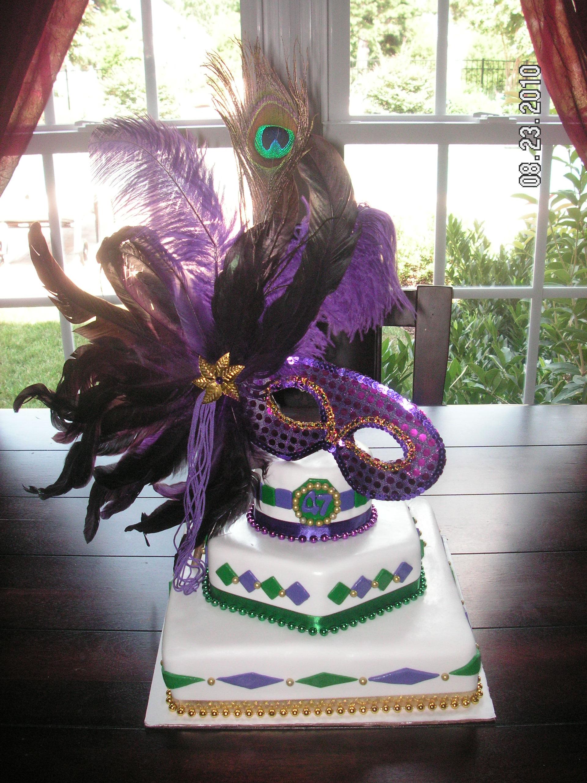 7 Photos of Mardi Grass Theme Cakes