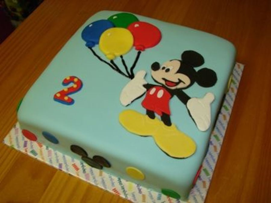 Mickey Mouse 2 Year Old Birthday Cake