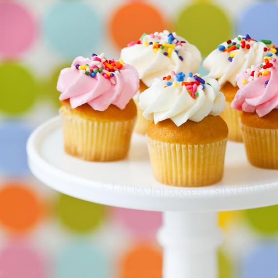 Mini Cupcakes with Sprinkles