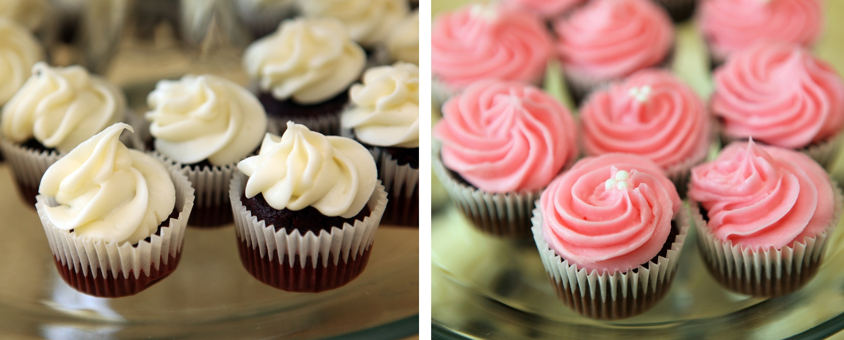 Mini Pink Cupcakes with Frosting