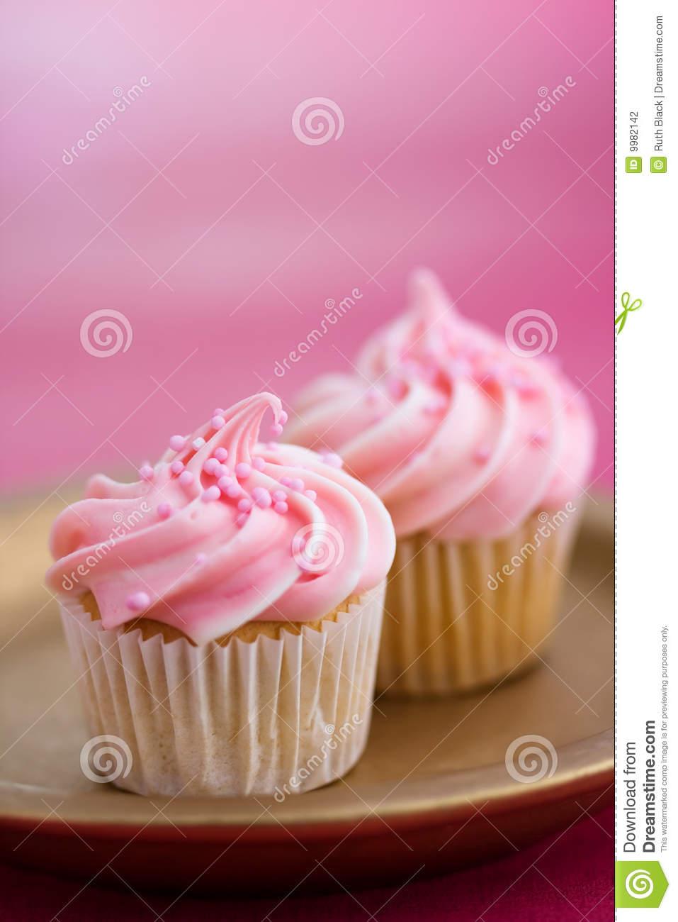 Mini Pink Cupcakes