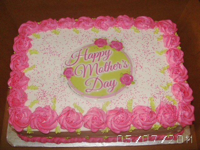 Mother's Day Cake with Rosette