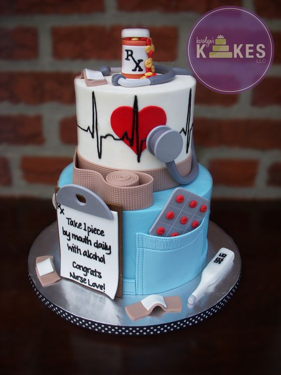 Nurse Graduation Fondant Cake