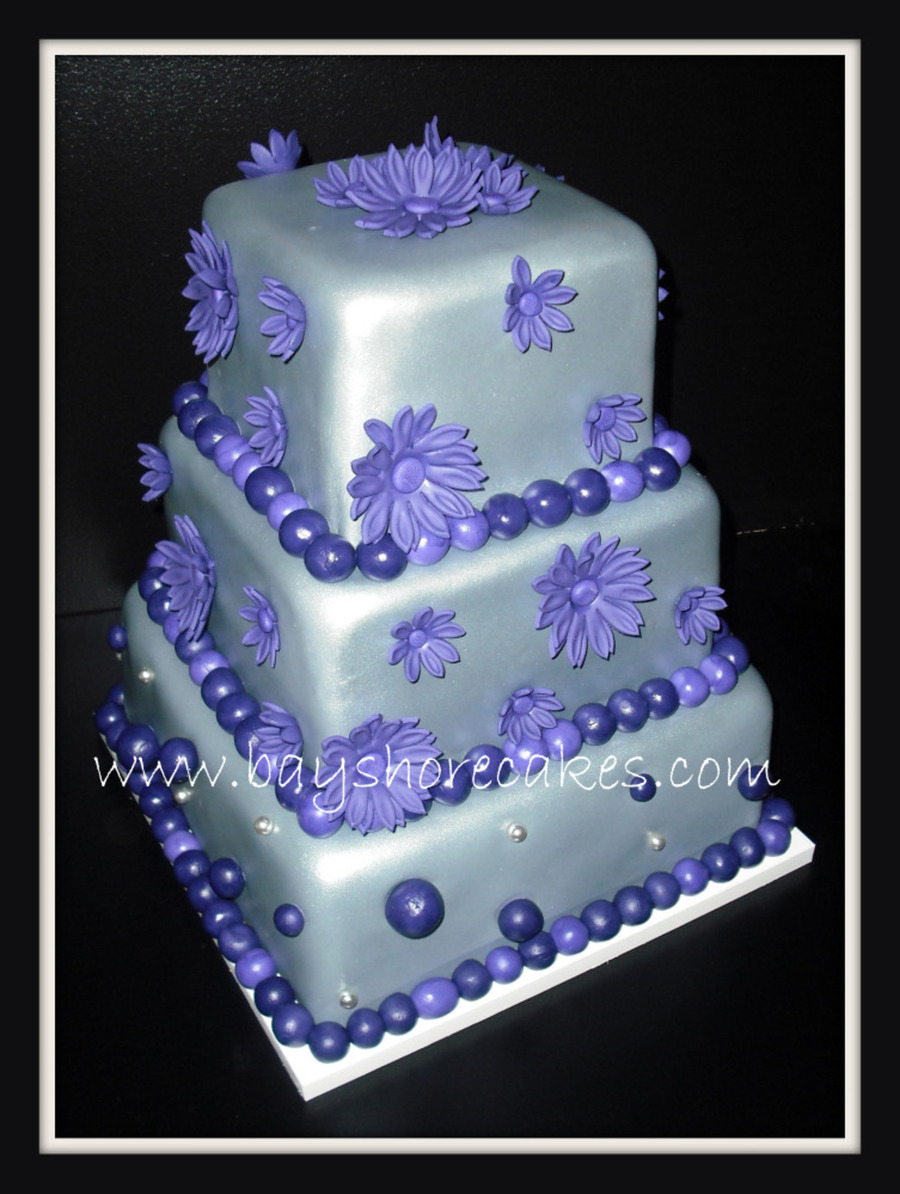 Fabulous 11 Lavender And Silver Birthday Cakes Photo Black Silver And Funny Birthday Cards Online Ioscodamsfinfo