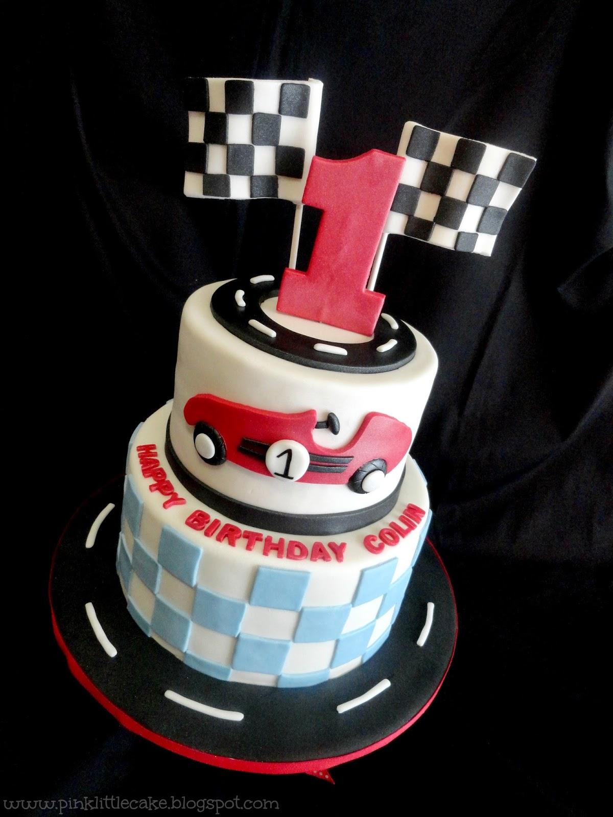 Race Car Themed Birthday Cake
