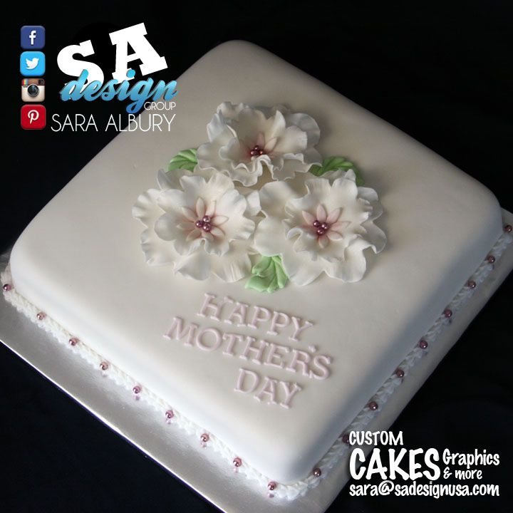 Simple Sheet Cake Designs Mother's Day
