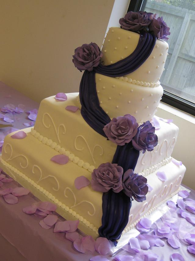 Square Wedding Cake Design
