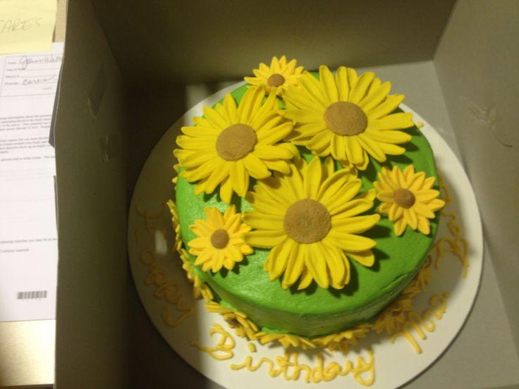 10 Birthday Cakes With Sunflowers Photo Sunflower Birthday Cake