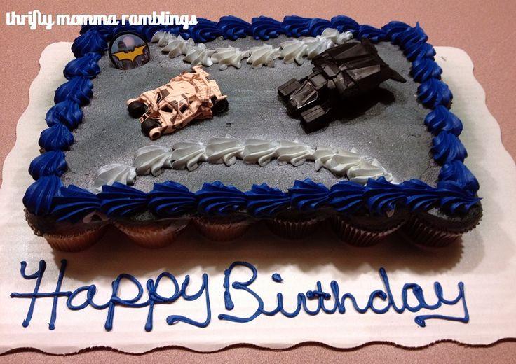 Walmart Batman Cupcake Cake