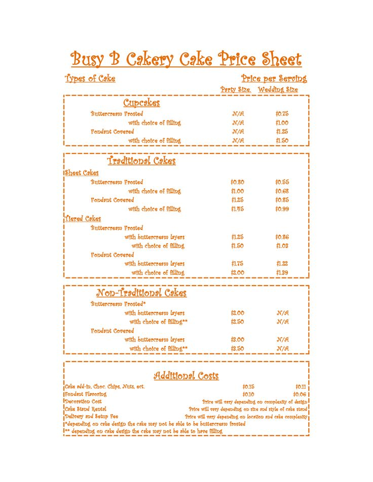 Corner Bakery Cake Prices