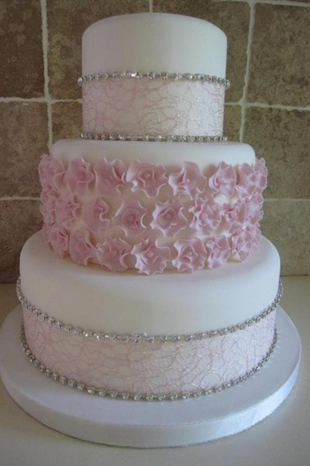 11 Birthday Cakes Pink And White Diamond Photo - Diamond Cake ...