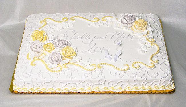 11 Writing Sheet Cakes For Wedding Reception Photo - Decorated ...
