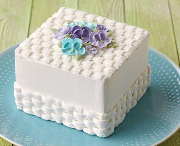 8 Photos of Sheet Cakes With Basketweave Design