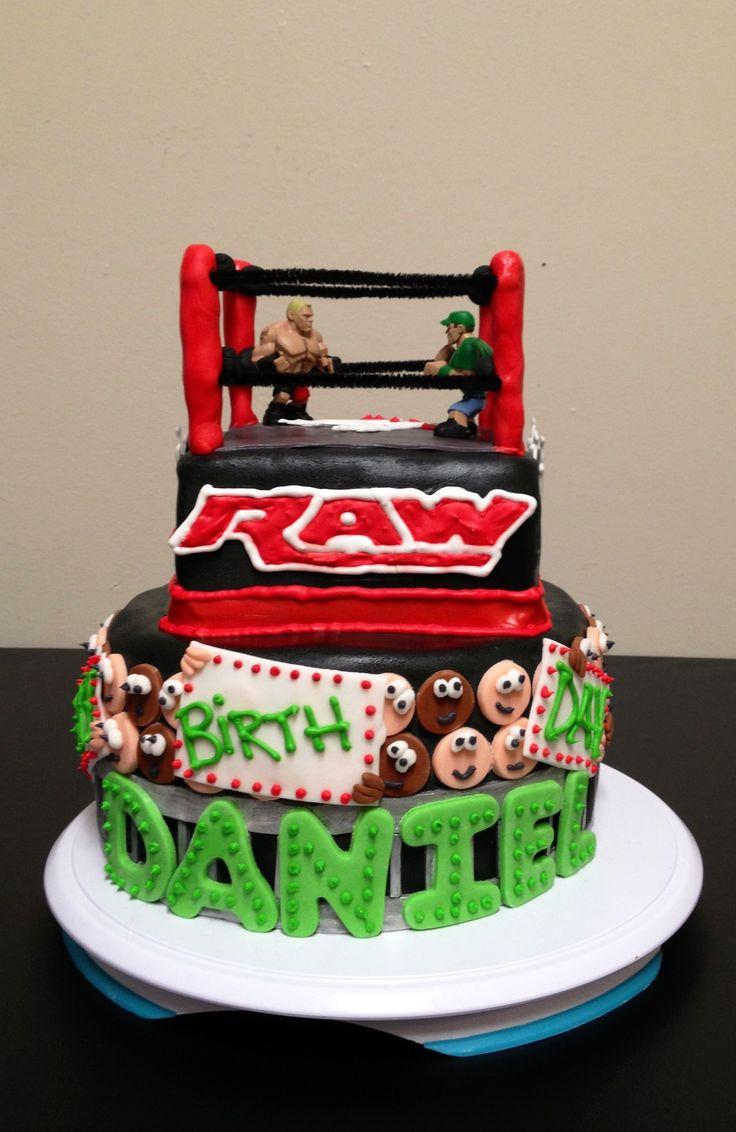 6 Wrestling Birthday Cakes Photo Wwe Wrestling Ring Birthday Cake