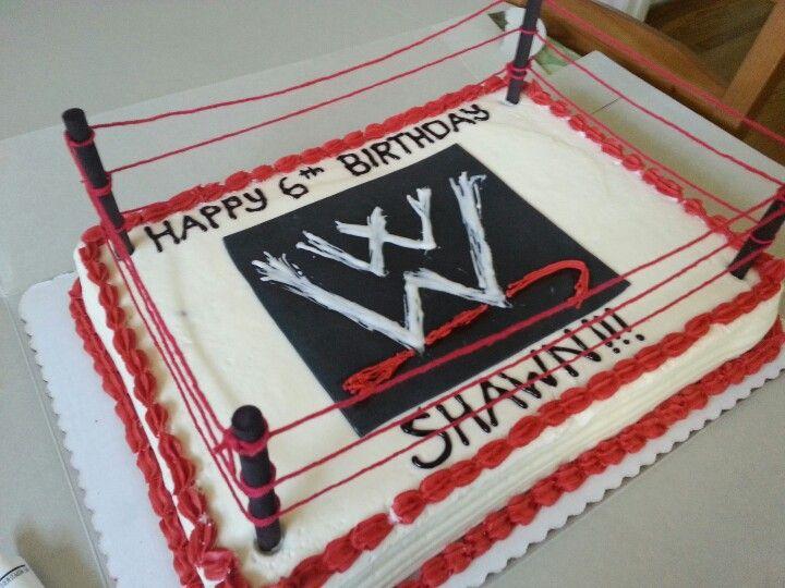 8 WWE 1 2 Sheet Cakes Photo WWE Birthday Cake Ideas Sin Cara