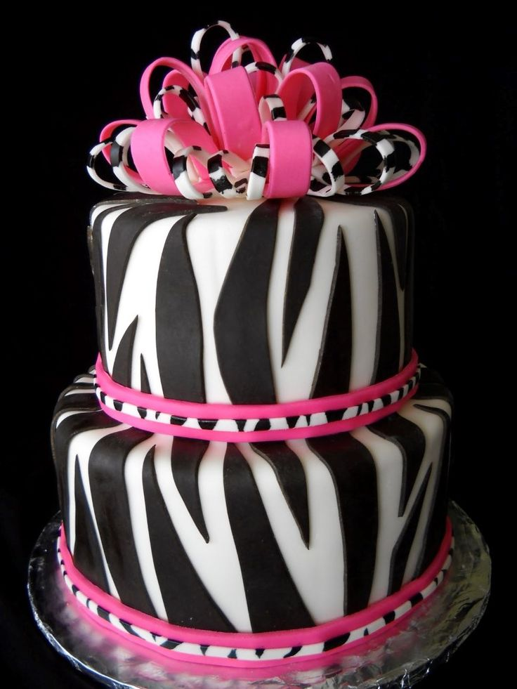 11 Top Part For Pink Zebra Birthday Cakes For Girls Photo Best