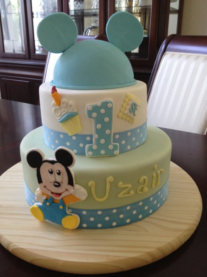 Super 11 Baby Mickey Mouse Birthday Cakes For Boys Photo Baby Mickey Personalised Birthday Cards Sponlily Jamesorg