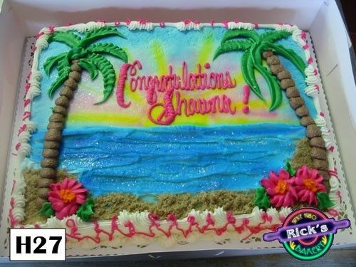 Beach Themed Sheet Cakes