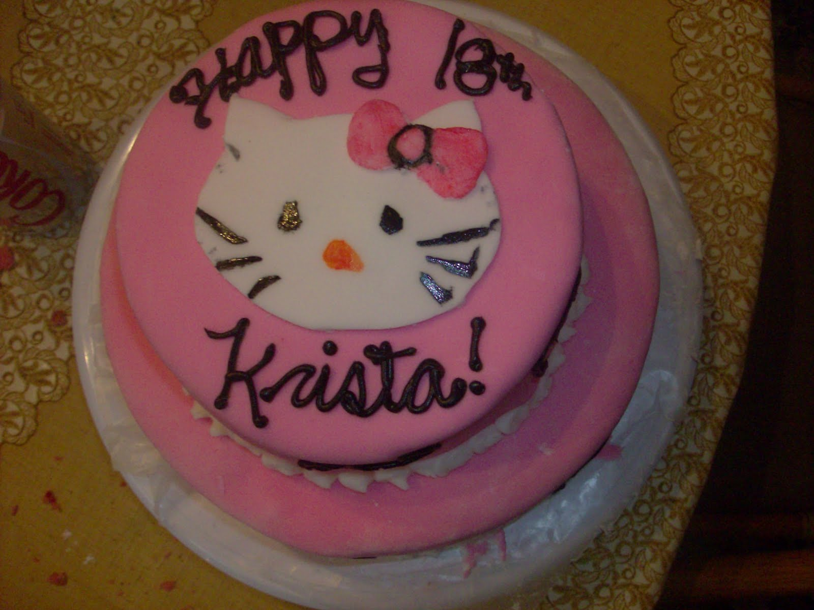 Big Hello Kitty Birthday Cake