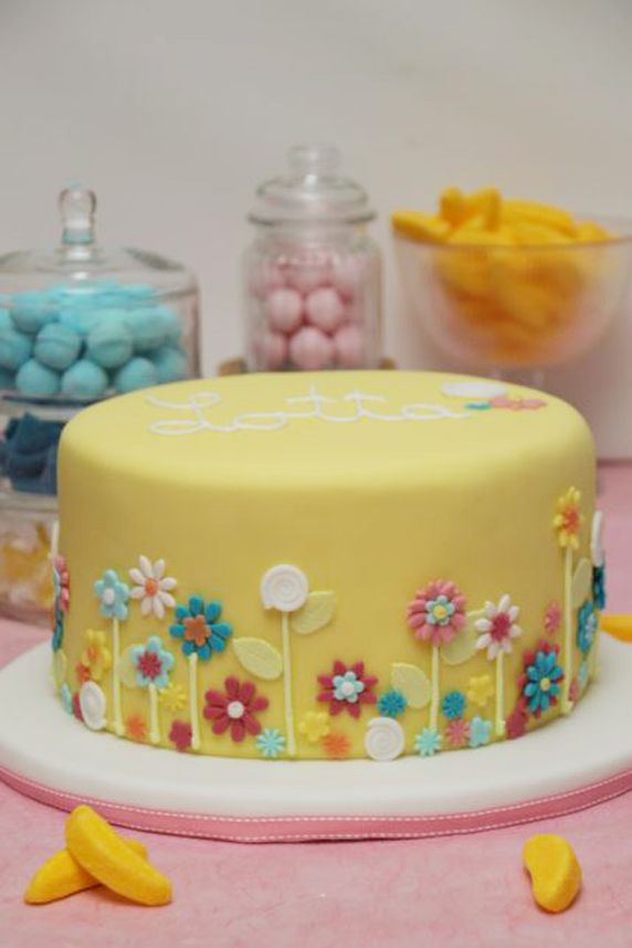 Birthday Cake With Yellow Flowers