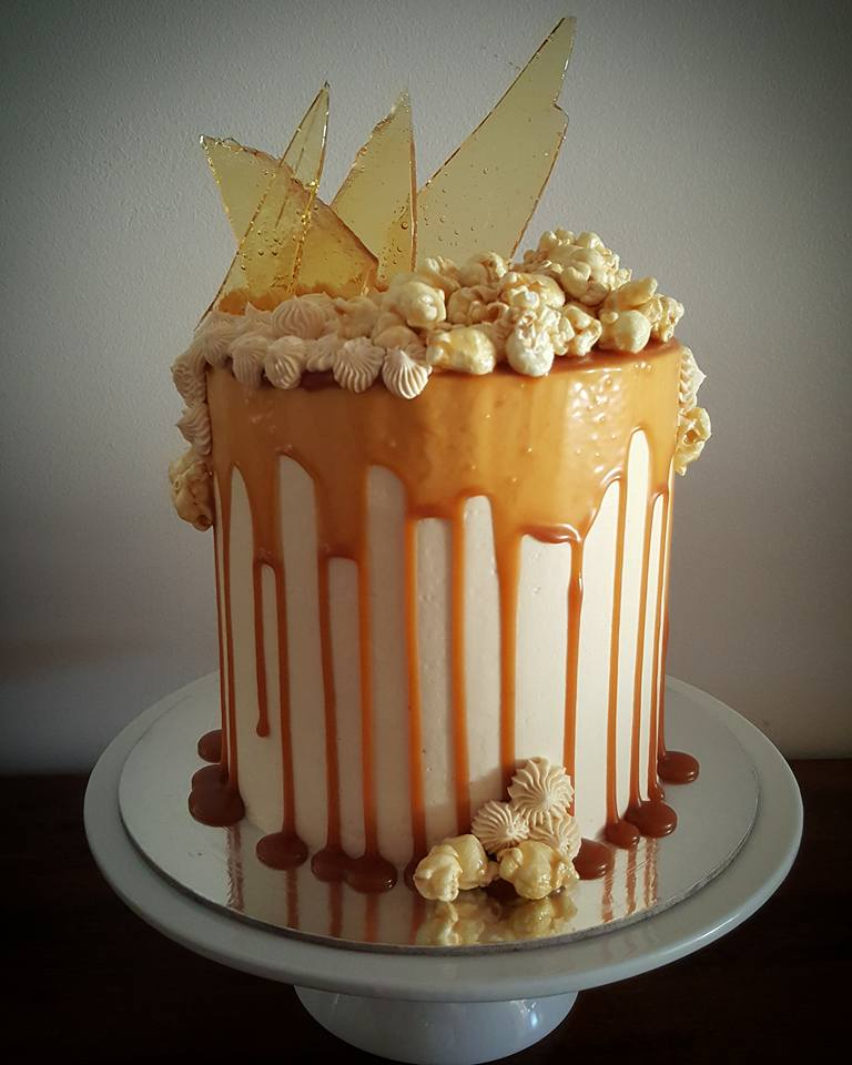 Awesome 6 Caramel Homemade Birthday Cakes Photo Chocolate Cake With Twix Funny Birthday Cards Online Necthendildamsfinfo