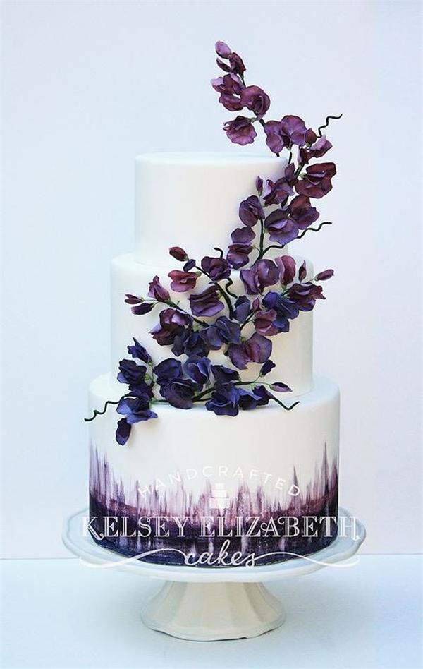9 Dark Purple And Lilac Wedding Cupcakes Photo Purple Wedding