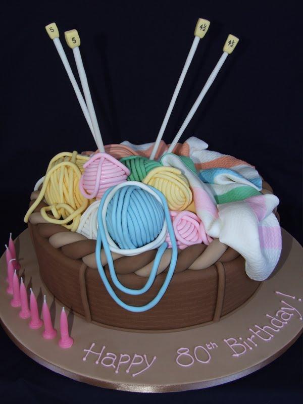 11 Birthday Cakes For Knitters Photo Happy Birthday Knitting Cake