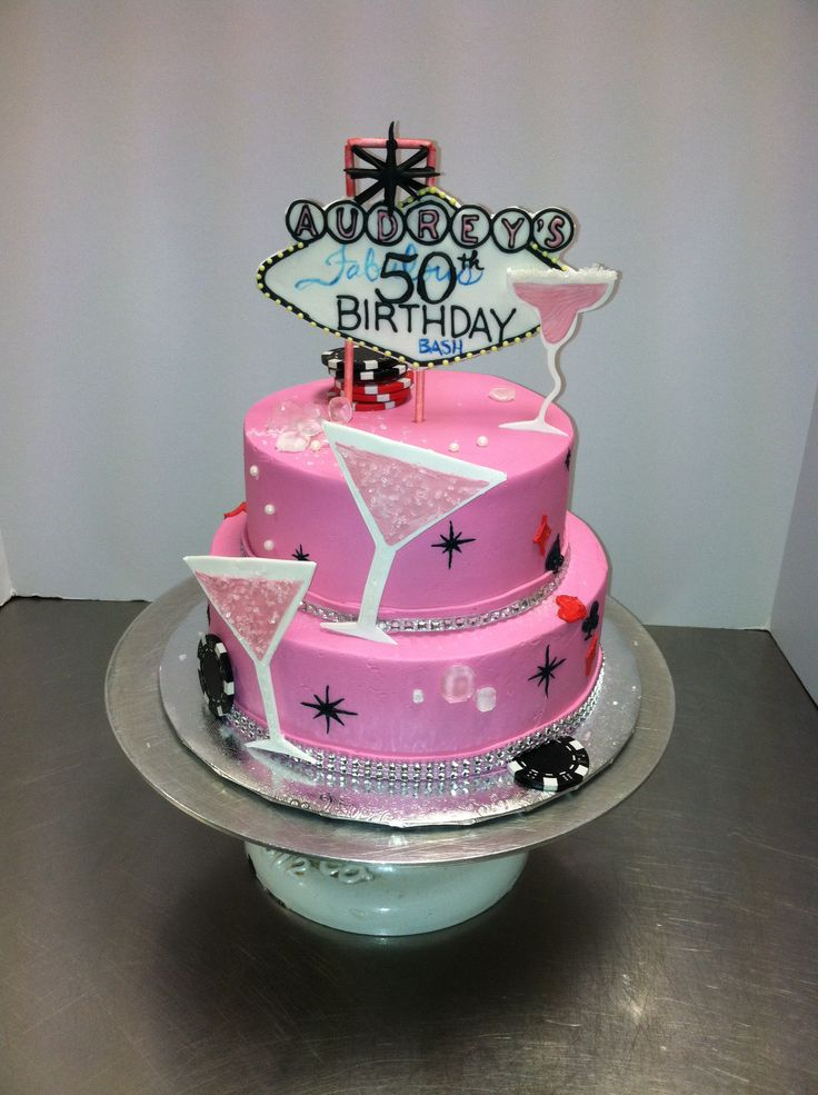 Las Vegas Theme Birthday Cake