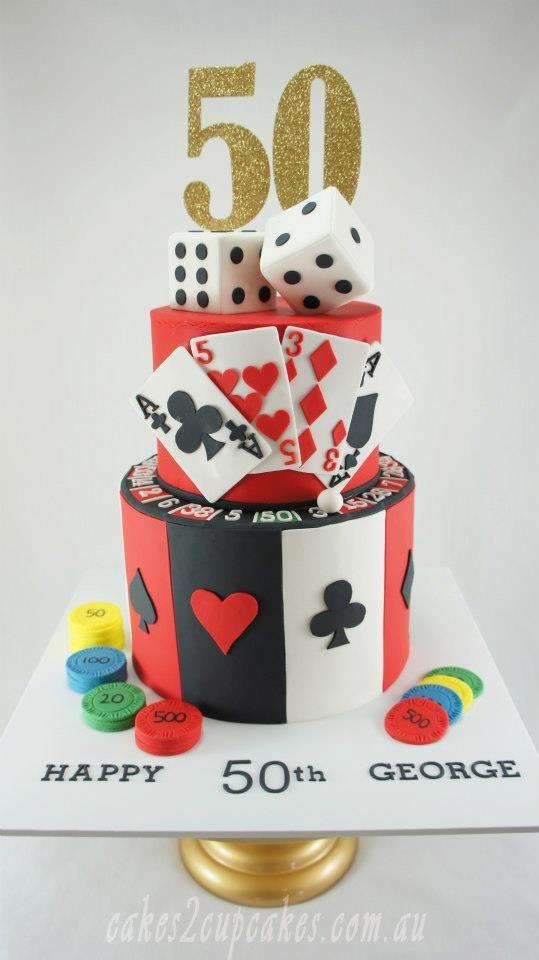 Las Vegas Themed 50th Birthday Cake