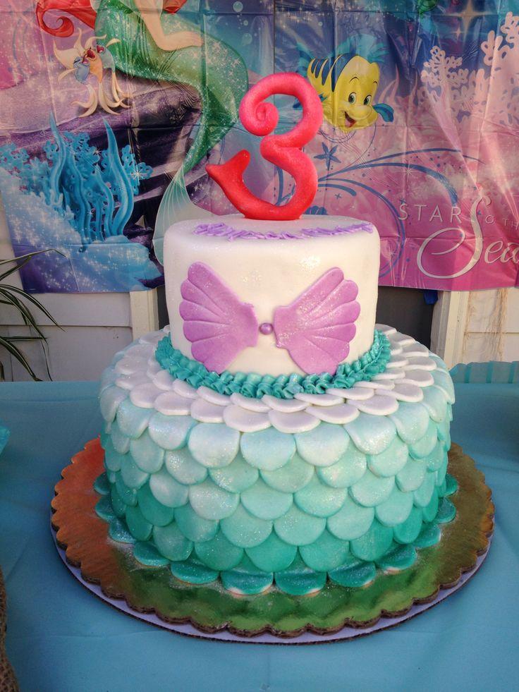 Wondrous 8 Little Mermaid Cakes For Girls Photo Little Mermaid Birthday Funny Birthday Cards Online Elaedamsfinfo