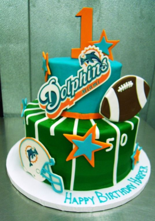 5 Balloons Happy Birthday Cakes Miami Dolphins Pictures Photo