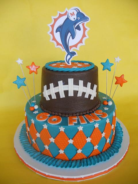 5 Balloons Happy Birthday Cakes Miami Dolphins Pictures Photo ...