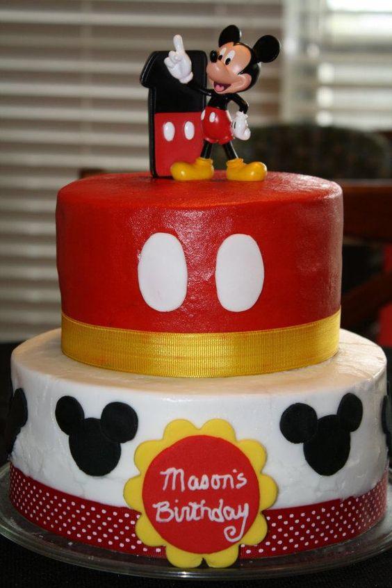 Terrific 11 Mickey Mouse First Birthday Cakes For Boys Photo Mickey Mouse Funny Birthday Cards Online Benoljebrpdamsfinfo
