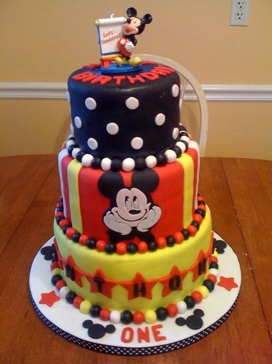 Tremendous 10 Mickey Mouse Birthday Cakes Amazing Photo Mickey Mouse Cake Personalised Birthday Cards Paralily Jamesorg