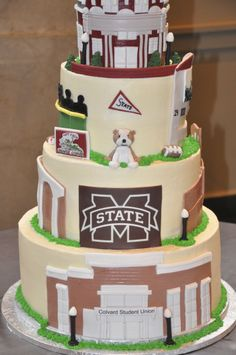 12 Photos of Mississippi State University Groom S Cakes