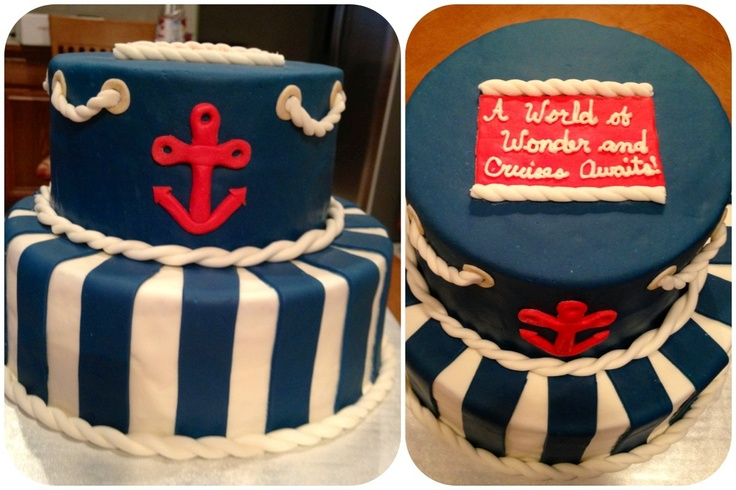 Nautical Retirement Cake